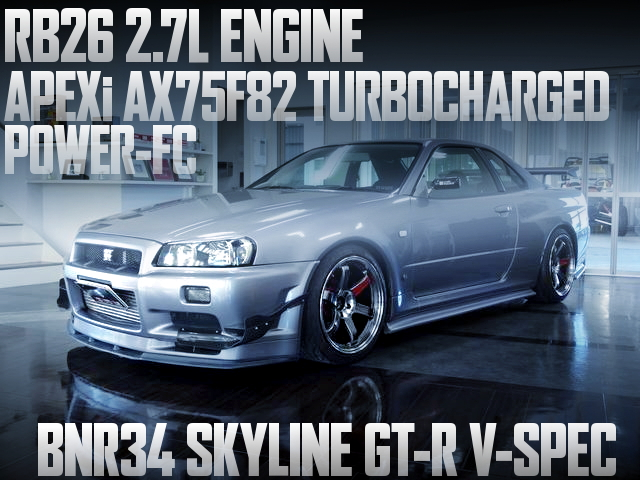 RB26改2.7Lエンジン!アペックスAX75F82ビッグシングルタービン!BNR34日産スカイラインGT-R Vスペックの国内中古車を掲載
