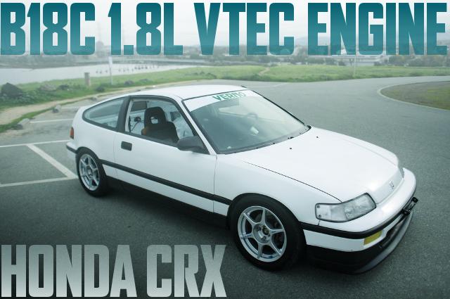 インテグラGSR用B18C型VTECエンジン移植!タイプR用5速MT!2代目EFホンダCR-Xのアメリカ中古車を掲載