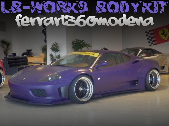 LB-WORKSワイドボディ仕上げ!マットパープルカラーボディ仕上げ!フェラーリ360モデナの国内中古車を掲載