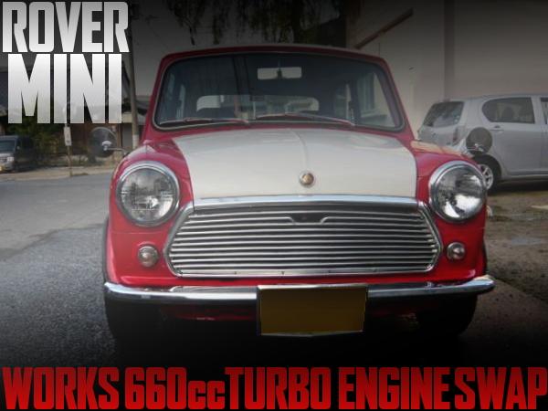 ワークス用F6Aシングルカムターボエンジン!軽登録!左ハンドル!XN12A型ローバーミニの国内中古車を掲載