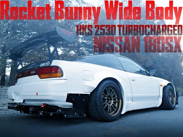 TRA京都ロケットバニーワイドボディ!SR20改GT2530タービンVプロ制御!S13日産180SXの国内中古車を掲載
