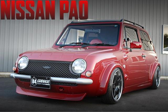 オーバーフェンダー加工!プリウス純正レッドカラー!PK10日産パオの国内中古車を掲載