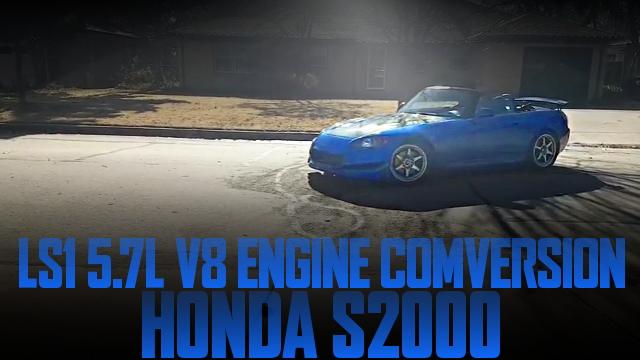 コルベット流用LS1型5.7リッターV8エンジン6速マニュアル仕上げ!AP1型ホンダS2000のアメリカ中古車を掲載