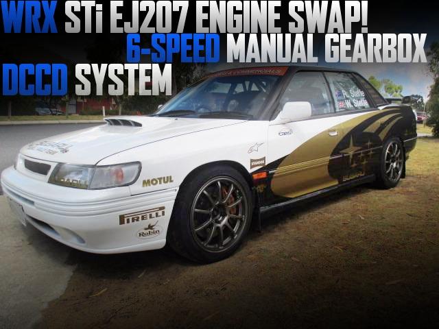 04年式WRX・STI用EJ207ターボエンジン6速MT移植!DCCDシステム搭載!スバル・リバティ(初代レガシィ)のオーストラリア中古車を掲載