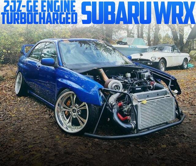 2JZ-GEエンジン改シングルターボ!W58型5速マニュアル!後輪駆動!GD型スバルWRXのアメリカ中古車を掲載