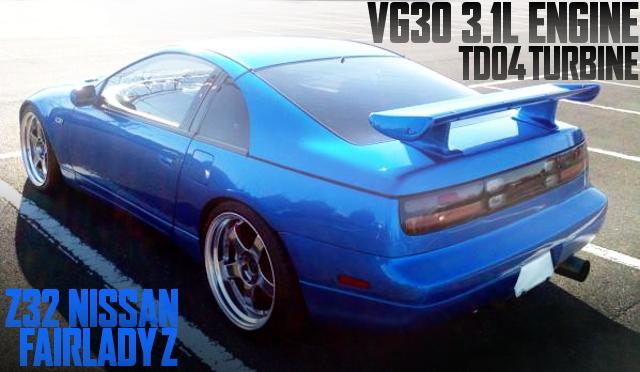 500馬力!VG30改3.1LエンジンTD04タービン!R34ベイサイドブルー!CZ32日産フェアレディZの国内中古車を掲載