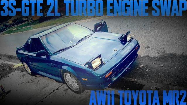 3S-GTE型2Lターボエンジンスワップ!AW11初代トヨタMR2のアメリカ中古車を掲載