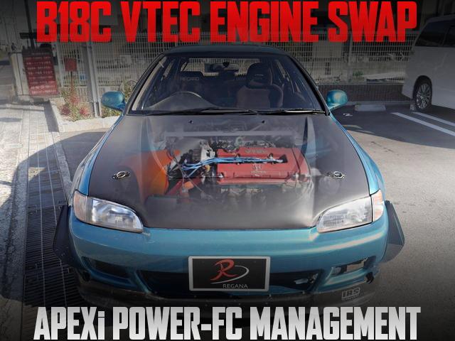 98スペックB18CエンジンPOWER-FC制御!ダッシュ貫通ロールバー!EG系シビックSiR2の国内中古車を掲載