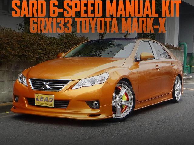 サード6速マニュアルシフト仕上げ!オレンジマジョーラカラー!GRX133型マークXプレミアムの国内中古車を掲載