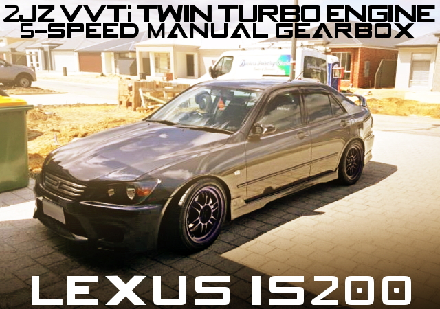 VVTi仕様2JZ-GTEツインターボエンジンスワップ!5速マニュアル!エボ用ブレンボ移植!初代レクサスIS200のオーストラリア中古車を掲載