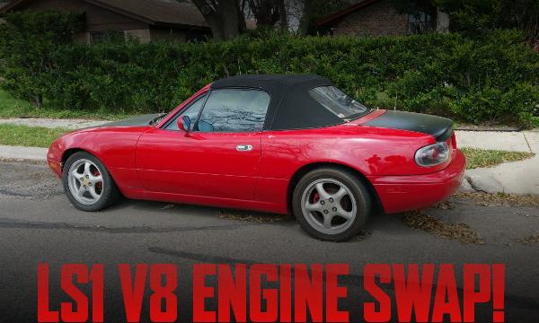 LS1型V8エンジンスワップATシフト仕上げ!ミアータMX5(NA系ロードスター)のアメリカ中古車を掲載