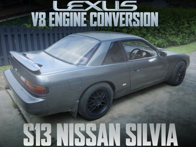 レクサス流用1UZ-FE型V8エンジンスワップ!W58系5速MT組み合わせ!S13日産シルビアのオーストラリア中古車を掲載