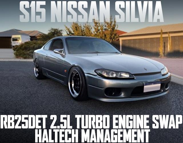 RB25DETエンジンGT30タービン+RB25用5速マニュアル仕上げ!S15日産シルビアのオーストラリア中古車を掲載