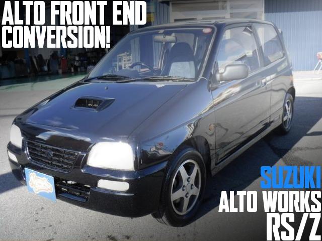 アルトフェイス仕上げ!オールペンボディ!HA21S型アルトワークスRS/Zの国内中古車を掲載