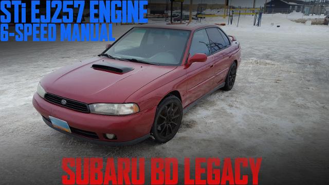 北米STi流用EJ257型2.5Lターボエンジン+6速マニュアル移植!BD型スバル・レガシィのアメリカ中古車を掲載