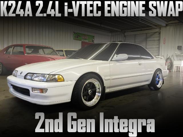 K24A型2.4リッターiVTECエンジン搭載!タイプRミッション組み合わせ!2代目インテグラのアメリカ中古車を掲載
