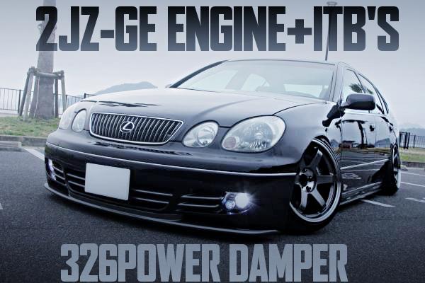 2JZ-GEエンジン改6連スロットル!R154系5速マニュアル!326POWER車高調!左ハンドル!レクサスGS300(16アリスト)の国内中古車を掲載