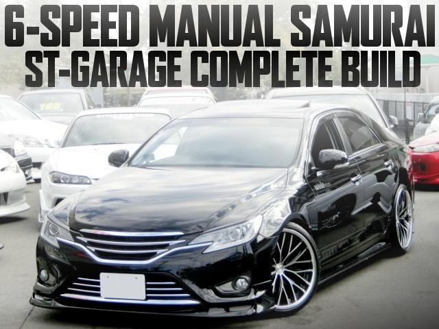 東京オートサロン2017出展!SARD製6速マニュアルKIT!ST-GARAGEコンプリートカー!GRX130トヨタ型マークX・350Sの国内中古車を掲載