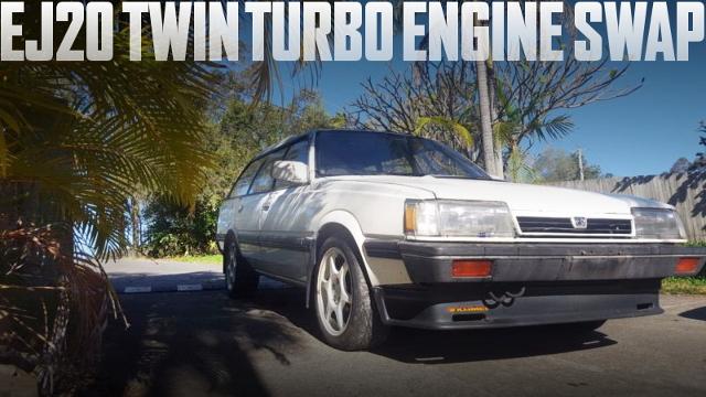 GT-B流用EJ20ツインターボエンジンATシフト移植!3代目レオーネのオーストラリア中古車を掲載