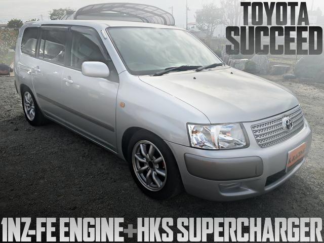 1NZ-FE改HKSスーパーチャージャー!前置きIC!快速ビジネスバン仕上げ!トヨタ・サクシードバンの国内中古車を掲載