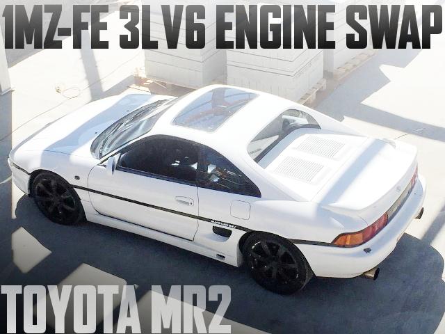 1MZ-FE型3リッターV6エンジンスワップ!SW20トヨタMR2のイギリス中古車を掲載