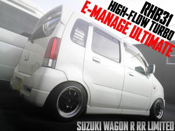 K6A改RHB31ハイフロータービン!e-manageアルティメイト!クロスミッション!MC21S型スズキ・ワゴンR・RRリミテッドの国内中古車を掲載
