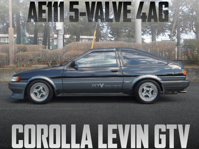 AE111用5バルブ4AGエンジン+K&Nファンネル!AE86型カローラレビンGTVの国内中古車を掲載
