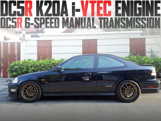 DC5タイプR用K20A型i-VTECエンジン+6速マニュアル移植!2代目ホンダ・シビッククーペSiのタイ中古車を掲載
