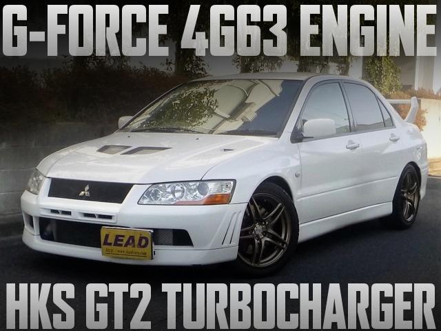 G-FORCEコンプリート4G63エンジン+HKS製GTⅡタービンVプロ現車!CT9A三菱ランエボVIIの国内中古車を掲載