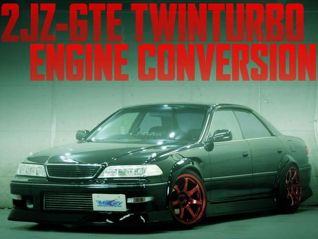 2JZ-GTEツインターボエンジン公認!N-STYLEフェンダー前後!JZX100マーク2ツアラーSの国内中古車を掲載