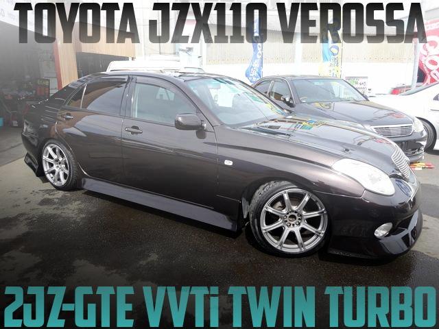 VVTi仕様2JZ-GTEツインターボエンジン!5速MT!JZX110ヴェロッサV25の国内中古車を掲載
