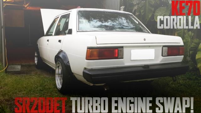 日産SR20DETターボエンジンスワップ!KE70型トヨタ・カローラのオーストラリア中古車を掲載