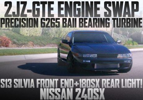 2JZ改ボールベアリングタービンHALTECH制御!シルビア顔+18SXテール!S13日産240SXのアメリカ中古車を掲載