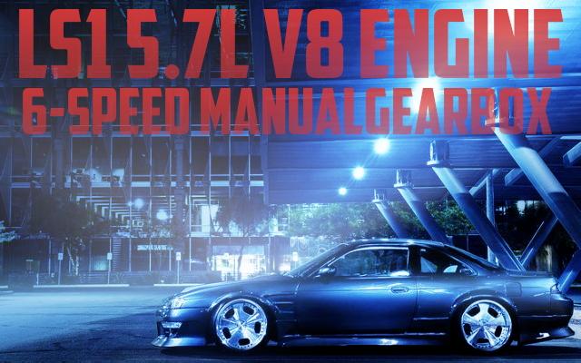 LS1型5.7リッターV8エンジン+6速マニュアル仕上げ!USDM!S14日産240SXのアメリカ中古車を掲載