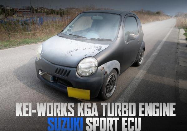 Keiワークス用K6Aターボエンジン、5速MT、ブレーキ移植!スズスポECU制御!スズキTWINの国内中古車を掲載