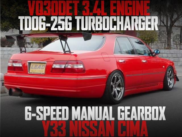 VQ30改3.4リッター化!TD06-25GタービンVプロ制御!6速マニュアル!Y33日産シーマ30TRの国内中古車を掲載