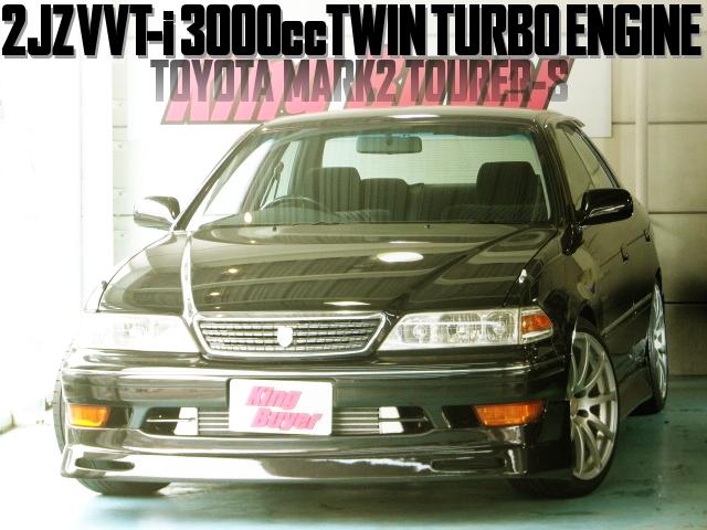 2JZ-GTE型VVT-i仕様3000ccツインターボエンジン5速MT仕上げ!100系トヨタ・マーク2ツアラーSの国内中古車を掲載