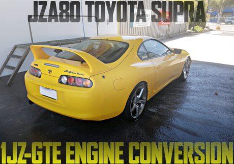 1JZ-GTEエンジン改GT3582タービン!eマネージ制御!JZA80型トヨタ・スープラのオーストラリア中古車を掲載