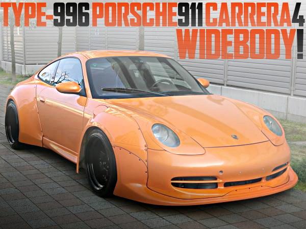 ワークスワイドボディ仕上げ!6速MTモデル!前期996型ポルシェ911カレラ4の国内中古車を掲載