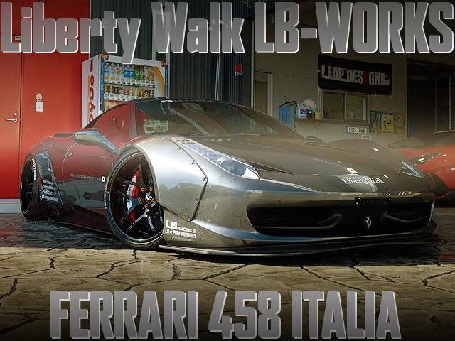LB-WORKSワイドボディ化!フェラーリ458イタリアの国内中古車を掲載
