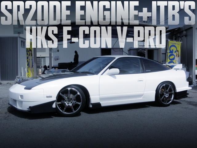 SR20DE改4連スロットル!HKS製Vプロ制御!URASタイプGTエアロ!日産180SXタイプGの国内中古車を掲載