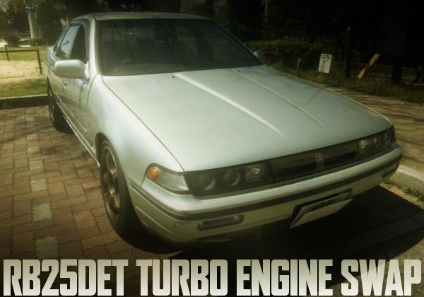 RB25DETエンジン社外タービン仕上げ!5速MT!公認取得!A31型セフィーロの国内中古車を掲載