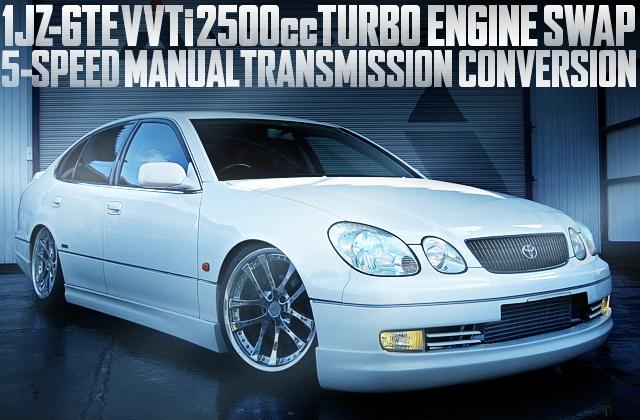 VVTi仕様1JZ-GTE型2500ccターボエンジン+5速マニュアル!JZS161型アリストV300ベルテックスEDの国内中古車を掲載
