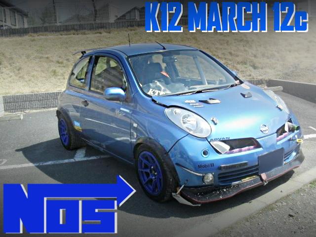 CR12DEエンジン改NOS装着!2名乗車+ロールバー!3代目K12日産マーチ12cの国内中古車を掲載
