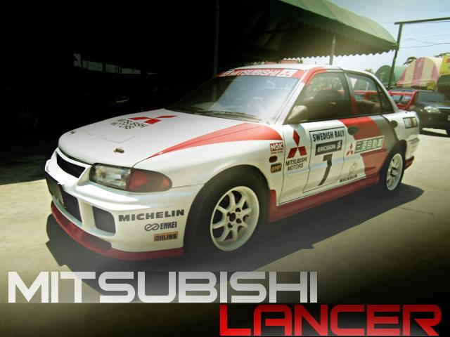 WRC(スウェディッシュ・ラリー)レプリカ!4G63改ウエストゲートターボEG!4代目三菱ランサー4ドア1.6Lのタイ中古車を掲載
