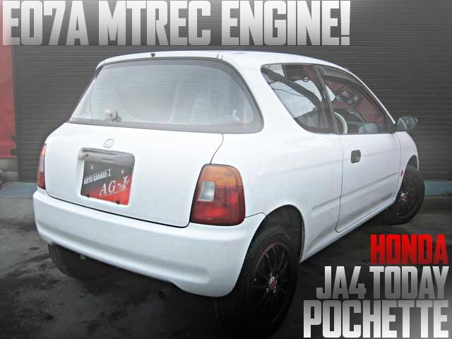 独立スロットル!MTRECエンジン搭載!前期JA4型ホンダ・トゥデイ・ポシェットの国内中古車を掲載