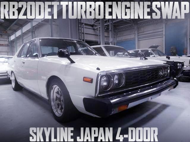 RB20DETターボエンジン+5速MT!パワステ+エアコン付!前期顔!C211日産スカイライン4ドアジャパンの国内中古車を掲載