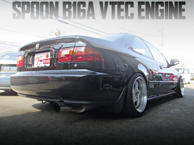 SPOON製B16A型VTECエンジン搭載!リアディスクブレーキ公認の国内中古車を掲載