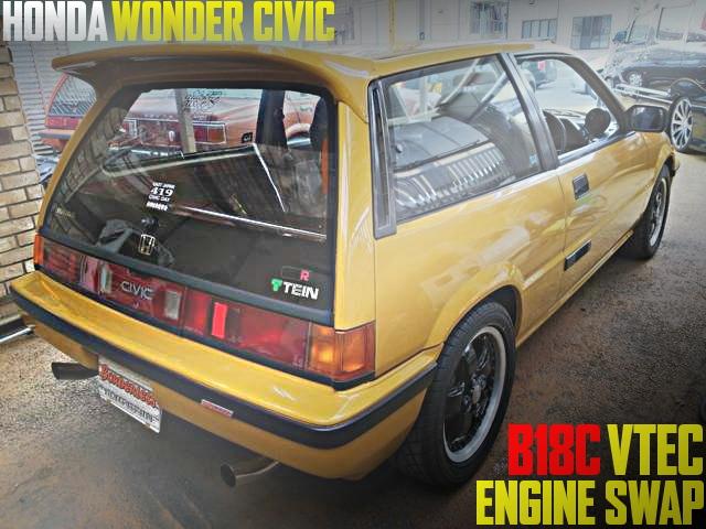 インテグラ・タイプR用B18C型VTECエンジンスワップ公認!3代目ホンダ・ワンダーシビック25Rの国内中古車を掲載