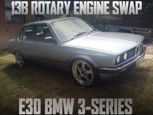 13Bロータリーエンジン改ビックシングルタービン!400馬力仕上げ!E30型BMW・323iのオーストラリア中古車を掲載
